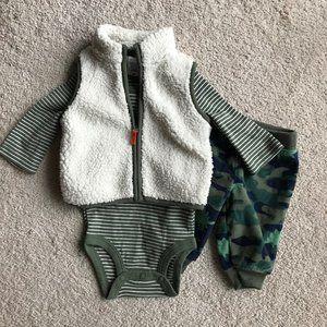Carter's Boys Sherpa Vest 3 Piece Set 3m
